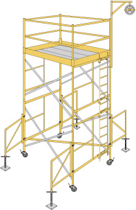 ABLE Scaffold System image with links.